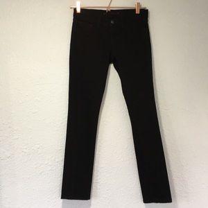 J Brand 24 pencil leg jet black slim straight